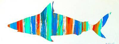 Wall Art - Digital Art - Salty Shark by Barry Knauff