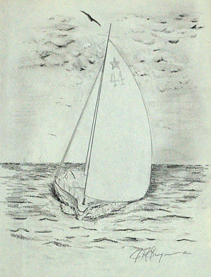 Drawing - Salty Spritzer by J R Seymour