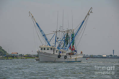 Photograph - Salty Waters Shrimping by Dale Powell