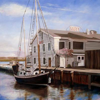 Painting - Salty's by RB McGrath