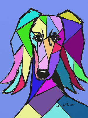 Saluki Colors Art Print by Terry Chacon