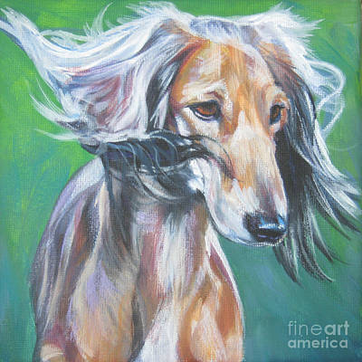 Saluki Painting - Saluki by Lee Ann Shepard