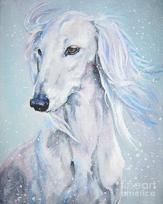 Saluki Painting - Saluki White Beauty by Lee Ann Shepard