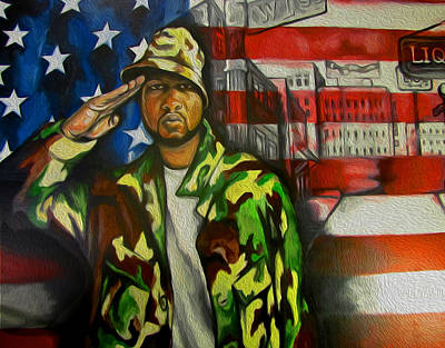 Negro Painting - Salute by Justin Simmons