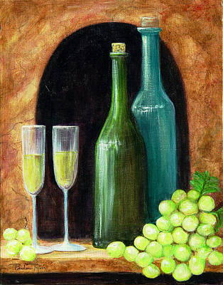 Glass Of Wine Painting - Salute by Pauline Ross