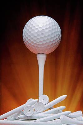 Salute To Golf Art Print