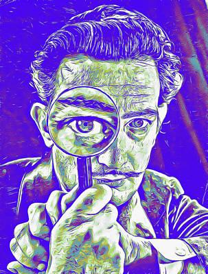 Digital Art - Salvador Dal Pop Portrait by Allen Beilschmidt