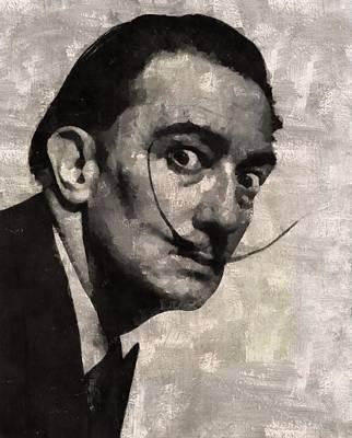 Salvador Dali, Artist Art Print by Mary Bassett