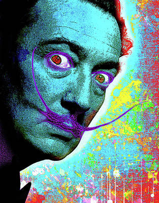 Painting - Salvador Dali by Gary Grayson