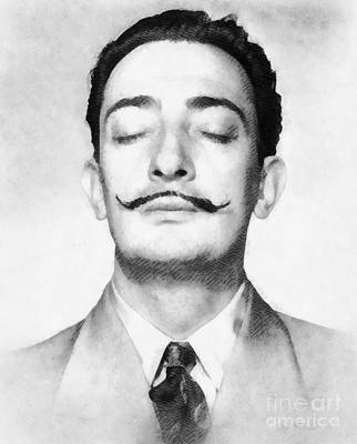 Salvador Dali Painting - Salvador Dali, Infamous Artist by John Springfield