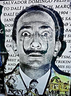 Digital Art - Salvador Dali by Joan Reese