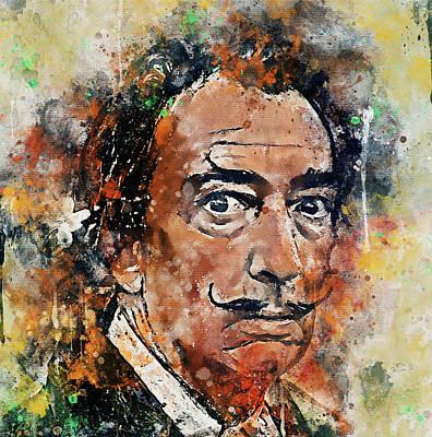 Digital Art - Salvador Dali Portrait 3 by Yury Malkov