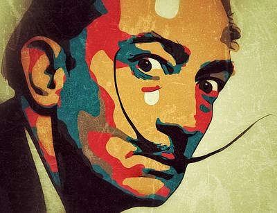 Digital Art - Salvador Dali Portrait by Yury Malkov