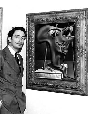 1940s Candid Photograph - Salvador Dali, Showing Off His Piece by Everett