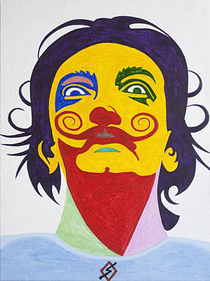 Painters Painting - Salvador Dali by Stormm Bradshaw
