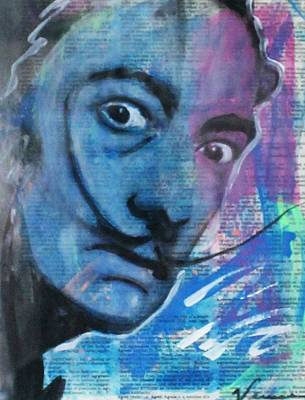 Surrealist Painter Mixed Media - Salvador Dali by Venus