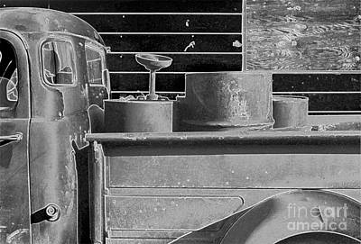 Photograph - salvage truck abstract - Truck Work by Sharon Hudson
