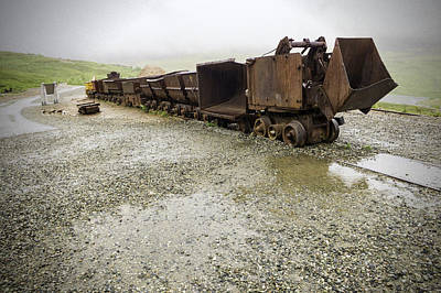 Independence Mine Photograph - Salvaged Mine Train Cars No 2 by Phyllis Taylor