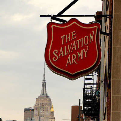 Salvation Army Photograph - Salvation Army New York by Andrew Fare