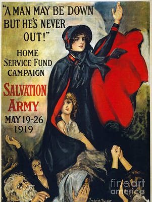 Photograph - Salvation Army Poster, 1919 by Granger