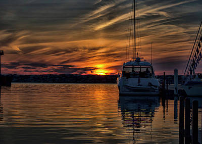 Photograph - Salvation - Marina Sunset by Ron Grafe