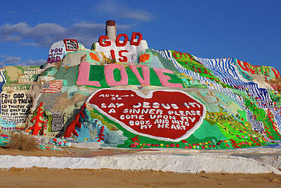Print featuring the photograph Salvation Mountain by Matthew Bamberg