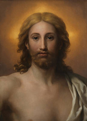 Baptism Painting - Salvator Mundi by Anton Raphael Mengs