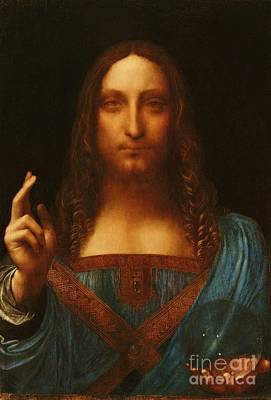 Painting - Salvator Mundi by Reproduction