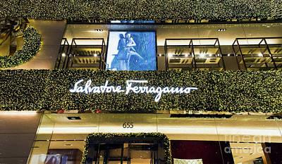 Photograph - Salvatore Ferragamo Store On Fifth Avenue In Nyc by David Oppenheimer