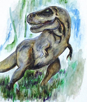 Painting - Salvatori Dinosaur by Clyde J Kell