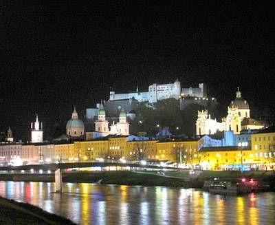 Salzburg At Night Art Print