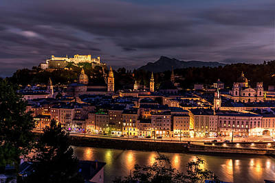 Print featuring the photograph Salzburg Austria by David Morefield