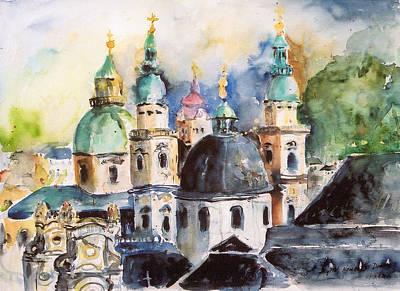 Salzburg Austria Art Print by Alexandra Maria Ethlyn Cheshire