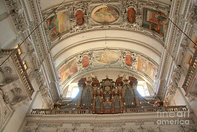 Photograph - Salzburg Cathedral Organ by Frank Townsley