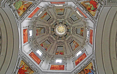 Photograph - Salzburg Cathedral Study 4 by Robert Meyers-Lussier