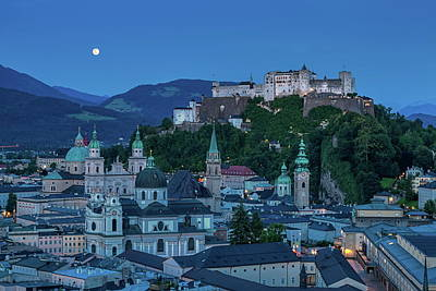 Photograph - Salzburg City With Hohensalzburg Fortress, Salzburger Land, Austria by Elenarts - Elena Duvernay photo
