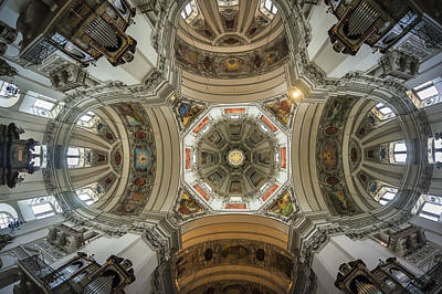 Photograph - Salzburg Dom Ceiling by Van Sutherland