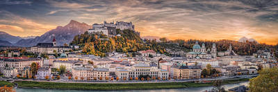 Salzburg In Fall Colors Art Print by Stefan Mitterwallner