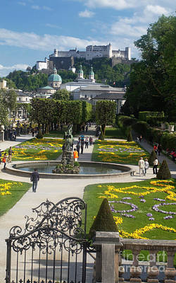 Photograph - Salzburg Old Town From Mirabell Garden by Rudi Prott