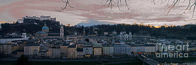 Photograph - Salzburg Panorama At Sunset by Rudi Prott