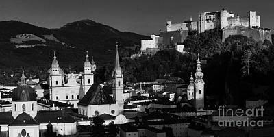 Photograph - Salzburg Panorama Bw by Rudi Prott