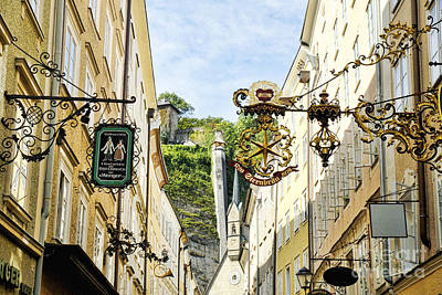 Photograph - Salzburg Shopping by Brenda Kean