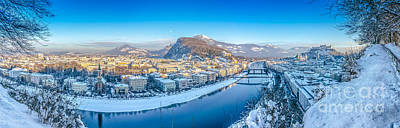 Photograph - Salzburg Winter Panorama by JR Photography