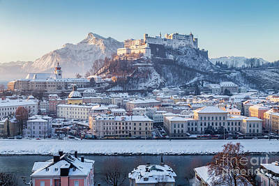 Photograph - Salzburg Winter Sunrise by JR Photography