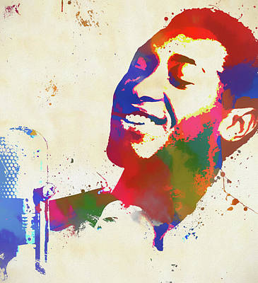 Painting - Sam Cooke by Dan Sproul
