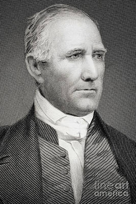 Statesmen Drawing - Sam Houston by American School