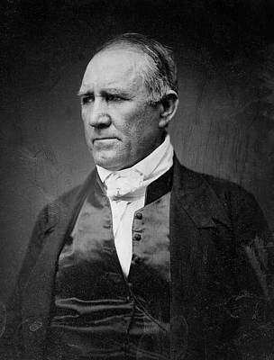 Sam Houston Of Texas  1849 Art Print