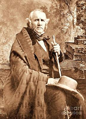 Photograph - Sam Houston by Pg Reproductions