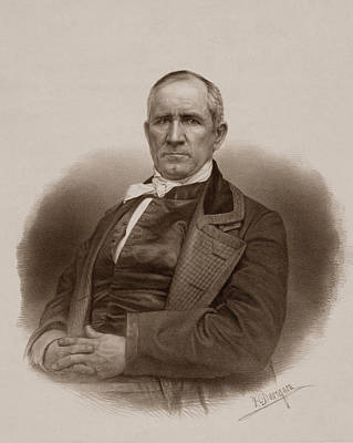 Sam Houston Portrait Art Print by War Is Hell Store