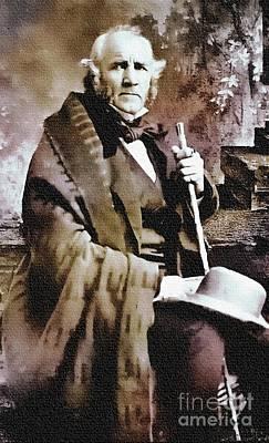 Photograph - Sam Houston - The Alamo by Ian Gledhill